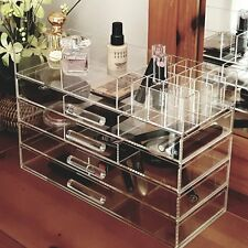 Ikee Design Large Clear Acrylic Jewelry and Cosmetic Storage Display Box