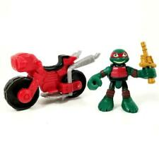 Teenage Mutant Ninja Turtles Half Shell Heroes Raph with Minibike Motorcycle Lot