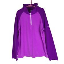 Columbia Girls Youth Sz L ( 14/16 ) Pink Purple Fleece Pullover Sweater Top