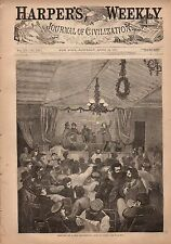 1871 Harpers Weekly April 22 - Saragossa;English Schools for imbeciles and Blind