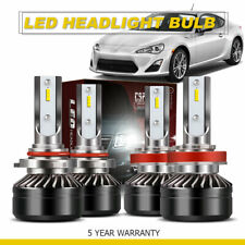 4x Combo H11 9005 HB3 LED Headlight Bulb 6000K 120W 24000LM High Low Beam DWS