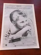 1984 Vintage 8X11 Album Promo Print Ad For Van Halen Boy Angel Smoking Cigarette