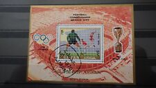 1x Bloc Sheet AJMAN Football Mexico 70 Azteca stadium Perforated cachet MNH**