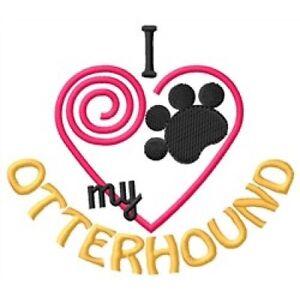 "I ""Heart"" My Otterhound Fleece Jacket 1325-2 Size S - XXL"