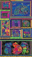 "Laurel Burch Dogs & Doggies Y1795-56M Panel 24"" x 44"" Cotton Panel"