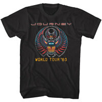 Journey Captured Album World Tour 1980 Men's T Shirt Rock Band Concert Merch