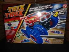 TRIX TRUX Zipline Stunt Truck - 4 Wheel Drive MONSTER TRUCK Climbs - ZipLines
