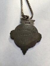 Pendant/medal PORTLAND-CUP 1922-3 - 925 silver -rarity-original-Baseball/Hockey