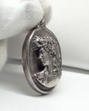 Henryk Winograd HW 999 Sterling Silver Victorian Lady Cameo Pendant #5160