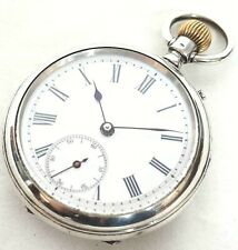 Superb Edwardian Solid Silver Gents Pocket Watch just serviced