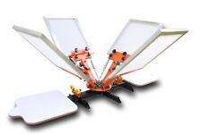 Carrousel Machine Presse de Sérigraphie 4 Couleurs 2 Plateaux