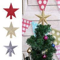 11/15/20cm Sparkle Stars Christmas Tree Top Ornament Xmas Glitter Decor Topper