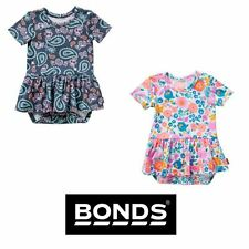 BONDS GIRLS BABY BALLETSUIT DRESS PRINTED STRETCHIES BY6FA SIZE 000 00 0 1 2