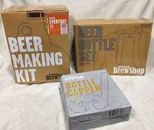 Brooklyn Brew Shop Beer Making Kit 2 gallons IPA, Bottle Set, Capper & Caps Set