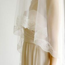 Cathedral Length Lace Veil with Blusher- Ivory Spanish Mantilla Veil