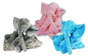 Elefant Kuscheldecke Kopfkissen für Baby Kuscheltier Schmusedecke Baydecke