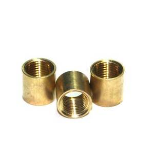 Solid Brass M10 x 1mm Pitch Thread Straight Coupler / Joiner 12mm Long Pack of 3