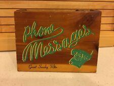 Vintage J.B. Cedarcraft Smoky Mountains Cedar Wood Box Phone Messages Souvenir