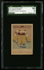 1951-52 PARKHURST HOCKEY PROOF/VARIATION~#19~JIM HENRY GOALIE~SGC 60 EXCELLENT 5
