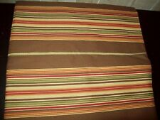 """Canvas Upholstery Fabric Stripes,Brown,Rust, Green, Yellow New 3 3/4 Yds L, 56"""""""