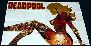 Deadpool Promo Poster Signed w/COA Dave Johnson 2009 Folded 24 x 36 Marvel