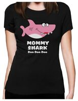 Mommy Shark Doo doo doo Mother Mom Gift Women T-Shirt Song Dance Clip