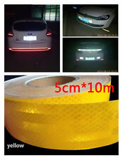 Car Night Safety Warn Sign Yellow Reflective Conspicuity Tape Scratch Resistance