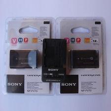 2x NP-FV70 & BC-TRV Fr Sony CX180 XR160 CX700 PJ10 PJ30 PJ50 CX550E XR150E SR68E