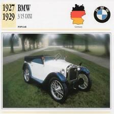 1927-1929 BMW 3/15 DIXI Classic Car Photograph / Information Maxi Card