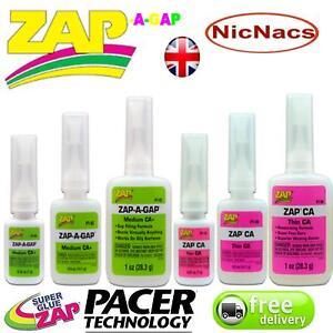 Zap a Gap Glue C A Medium & Thin Quick Setting SuperGlue Cyanoacrylate by Pacer