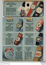 1972 PAPER AD Watch Clock Barbie Woody Woodpecker Hot Wheels Donald Duck Mickey
