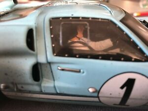 CODEX Finish Line +Driver FORD GT40 1966 #1 KEN MILES SHELBY COLLECTIBLES