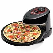 Rotating Pizza Oven Pizzazz Wings Maker Non Stick Cooker Black New