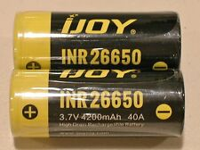 2 New ijoy 26650 4200mAh INR26650 Li-ion 3.7v 40a High Drain Battery