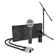 Shure SM58 Dynamic Vocal Mic with Boom Mic Stand and 6m 3-pin XLR Cable