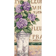 Dimensions Needlecrafts Hydrangea Floral Gold Petite Counted Cross Stitch Kit