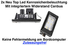 2x TOP LED Modul Kennzeichenbeleuchtung Audi TT 8J3 Coupe ab Bj. 2009 (ADPN