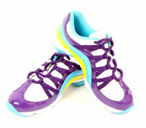 Purple and Multi Bloch Wave split sole jazz shoes / sneakers  S0523 -all sizes