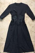 Vintage 40s Hattie Carnegie Black Silk Dress Unworn Original Label Price Tag