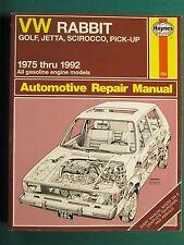 Vw Rabbit, Golf, Scirocco, Pickup Repair Manual