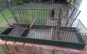 Bird Trap Cage vintage antique retro aviary mule canary double spring loaded