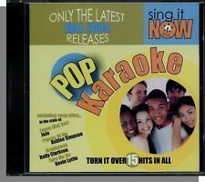 Karaoke CD+G - Sing It Now: Pop Hits Fall 2004 - New 15 Song CD!