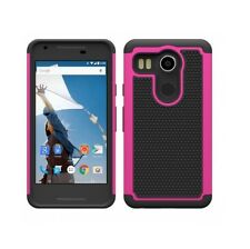New Hot Pink Heavy Duty Case For LG Google Nexus 5X
