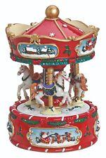 G.Wurm Spieluhr Karussell Pferde mechanisch Spieldose Melodie Musik 56412