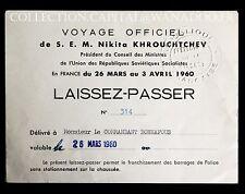 Laisser Passer Khrouchtchev, De Gaulle - les 4 documents