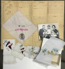 "WWII Rare Pilot NAVIGATOR'S LOG Mission ""HENPECK"" WW2 Collection w/Silks, Photo"