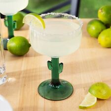 NEW Libbey 16 oz Margarita Glass With Cactus Stem - Set Of 2