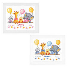 Vervaco-Cross Stitch Kit-Animales celebrar el nacimiento Record-Bebé-PN-0143720