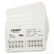 "AZDENT 100Set Dental Bracket Braces Mini Orthodontics Edgewise 022"" 3-4-5 Hooks"