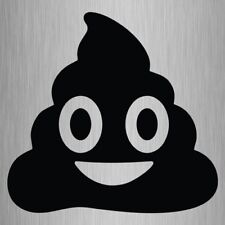 Poop Emoji Sticker Poo Vinyl Car Laptop Decal 105mm x 100mm #2